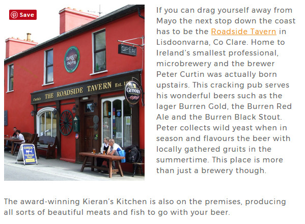 Burren Brewery and Kierans Kitchen on Beer Yeti.com