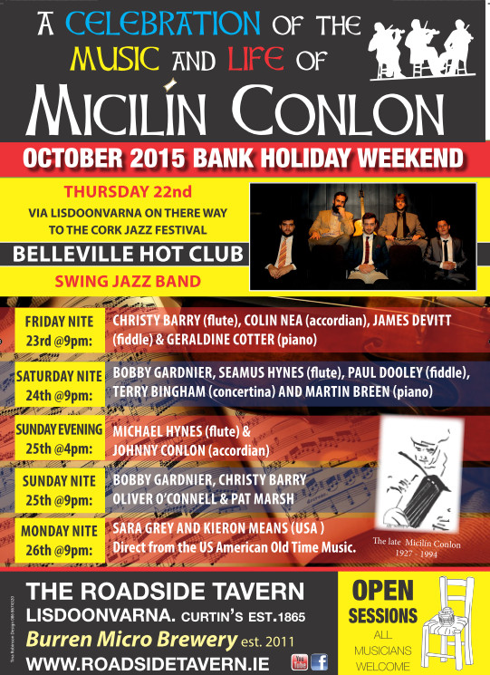 Micilin Conlon Weekend and Belleville Hot Club at Roadside Tavern