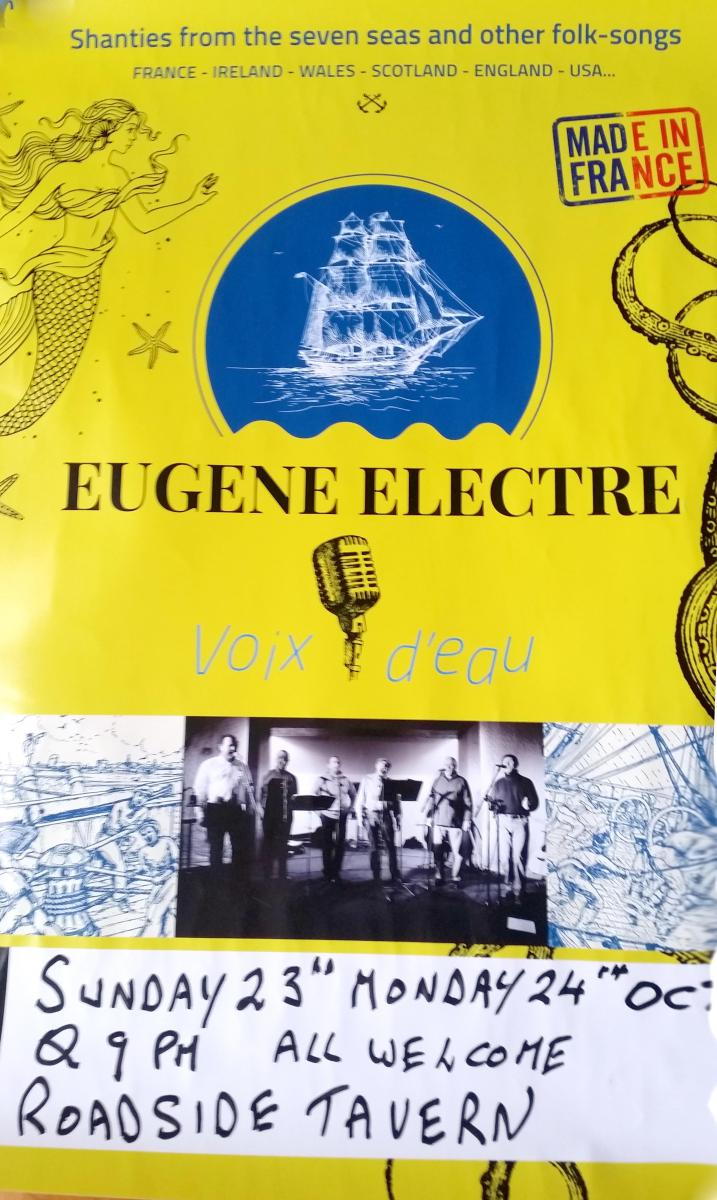 Eugene Electre shanties in the Roadside Tavern